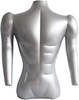 kowaku Inflatable Male Mannequin Bust with Arms T Shirt Tops Display