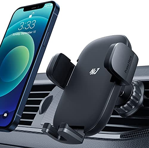 HHJ Car Phone Holder Mount [Upgraded Never Fall Hook Clip 2021] Air Vent Car Phone Mount, Universal Cell Phone Holder for Car Compatible with iPhone 12 Pro Max/11 Pro Max/11 Pro/X/, S10+ and More
