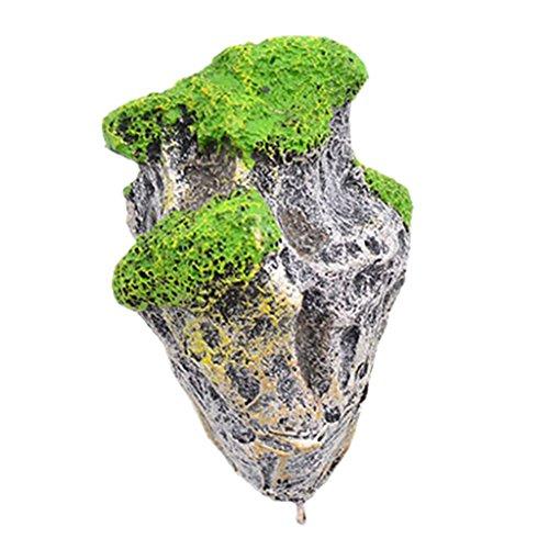 Generic Aquarium Terrarium Ornamente Schwimmenden Stein Rock Felsen mit Saugnapf Dekoration - S
