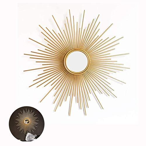 CJY- mirror Runde Sunburst Wandspiegel für Wohnzimmer große runde Spiegel Gold dekorative Wand montierbar Shabby Chic Home Decor Wandspiegel für Flur