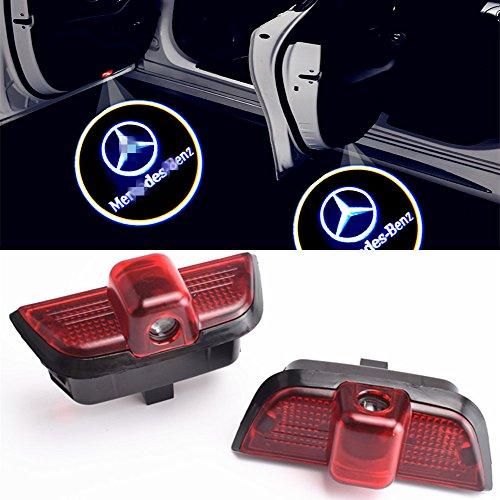 XYSTAR 2 Stück Autotür Logo Einstiegsbeleuchtung Projektion Licht Türbeleuchtung Projektor Welcome Licht (SZ-4NLB-FIOY)