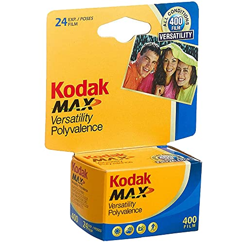 KODAK 10 Rolls GC 135-24 Max 400 Color Print 35mm Film ISO 400 (Pack of 10)