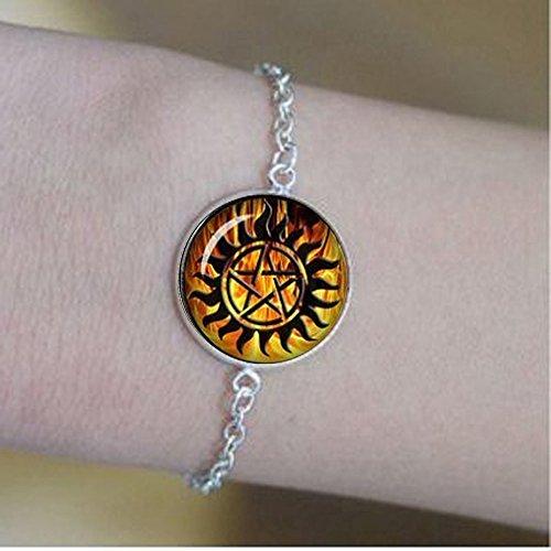 qws Winchester Anti-Dämonen-Tattoo-Armband Supernatural