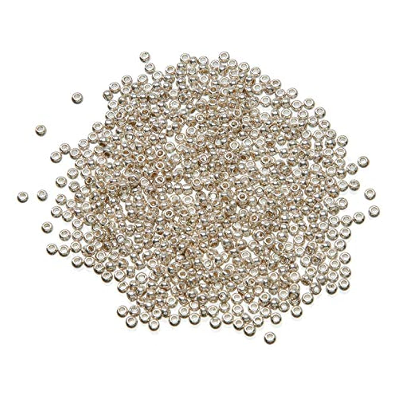 Bulk Buy: Darice DIY Crafts Toho Japanese Glass Seed Beads Galvanized Silver 11/0 2.2mm (3-Pack) 1951-49