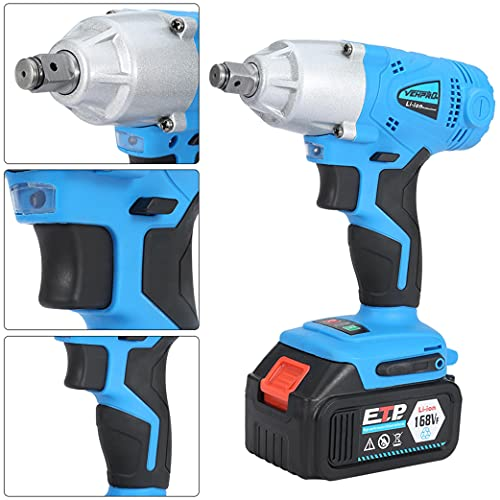 Electric Brushless Cordless Impact Wrench 1/2''