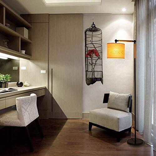 LKK-KK De pie luminarias de madera de hierro arte creativo de pie luminarias for sala de estar dormitorio de noche Estudio Sofá Bombilla incluido