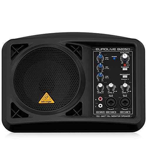 Behringer B205D Eurolive Monitor luidsprekersysteem (150 Watt), zwart
