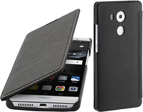 StilGut Leder-Hülle kompatibel mit Huawei Mate 8 Book Type, schwarz