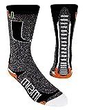 For Bare Feet NCAA-Downtown Socks-Miami Hurricanes, Large