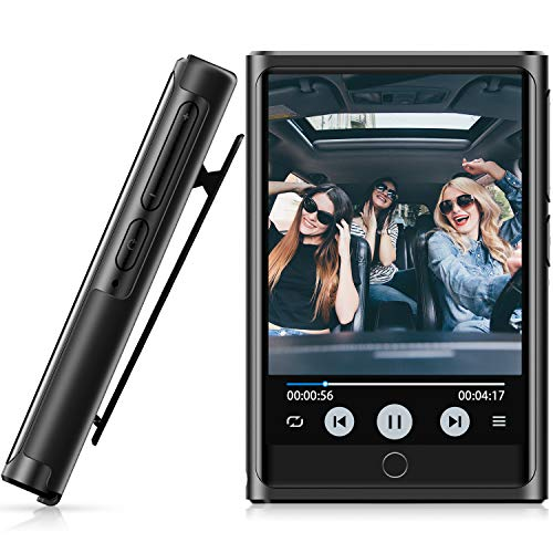 48GB MP3 Music Player, MP3 Player with Bluetooth 4.2, 2'' HD Touch Screen, Portable HiFi Lossless Sound Music Player with Clip, FM Radio, Voice Recorder, Sport Pedometer, Expandable up to 128 GB
