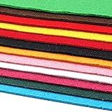 Schnoschi 12 Filzplatten Bastelfilz Filz Farbmix 2-3 mm