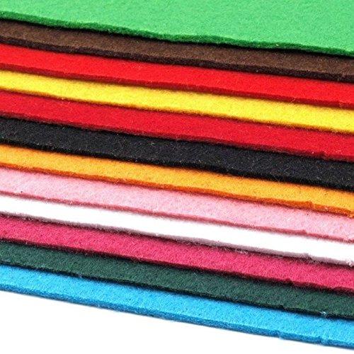 Schnoschi 12 Filzplatten Bastelfilz Filz Farbmix 2-3 mm dick DIN A4 20x30 cm