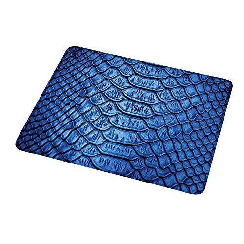 Mouse padwrist Support Animal Print, vívido Color Realista Serpiente Reptil Piel patrón cocodrilo en Azul Obra de Arte, Azul para Mujeres
