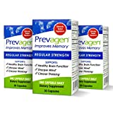 Prevagen Improves Memory - Regular Strength 10mg, 30 Capsules |3 Pack| with Apoaequorin & Vitamin D | Brain Supplement for Better Brain Health, Supports Healthy Brain Function and Clarity