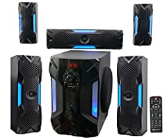 "5.1 Channel 1000-Watts Peak Power. 500-Watts Program Power. 250-Watts Continuous RMS Power. 8"" Subwoofer with Built-In Receiver. 1x 3"" Center Channel Speaker. 2x 3"" Full Range Front Channel Speakers. 2x 3"" Full Range Rear Channel Speakers. 8"" Subwoof..."