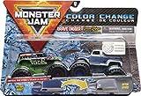 Monster Jam Oficial Grave Digger vs Grave Digger (1984 Retro) Camiones Monstruos fundidos a presión Que cambian de Color, Escala 1:64