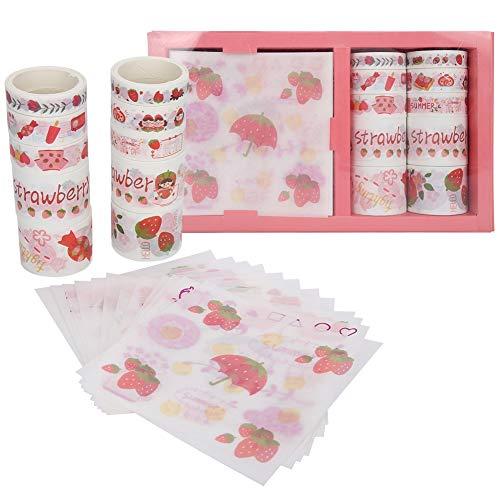 Fdit Adhesivo Decorativo para Bricolaje, 2 Cajas de Cinta Adhesiva Decorativa, Adhesivo de Papel japonés para Sobres, álbum de Recortes, Regalo para niños y Amigos