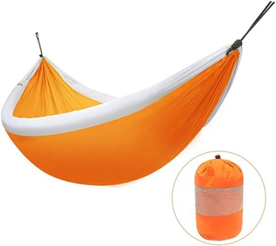 HZPXSB Camping Hammock-Portable-Outdoor, Randonnée pédestre, Randonnée pédestre, Voyager, Plage, Jardin-240cm (7.9foot) x173cm (5.7foot) -Orange