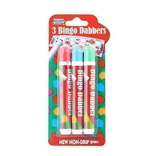 3er Pack NEUHEIT Bingo dabbers Markier Stifte verschiedene Farben NICHT Tropf Tinte