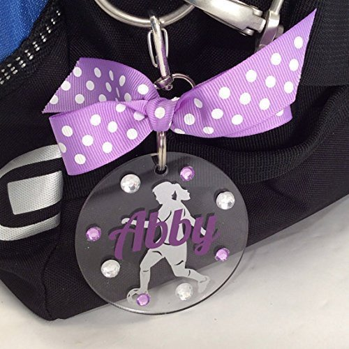 Soccer Girl Tag Personalized with Your Name and Your Colors