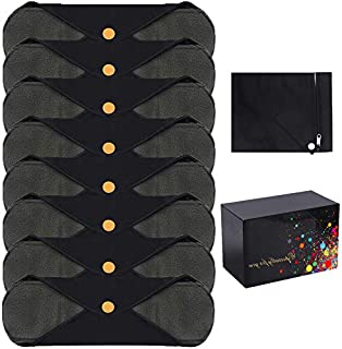 MYSWEETY 8 Pack Reusable Cloth Sanitary Towels with Bamboo Charcoal | Washable and Waterproof Menstrual Absorbent Pads for...