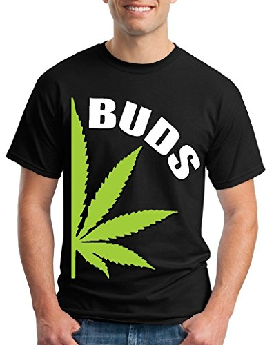 Best Buds Weed Leaf T-Shirt Weed Smokers Shirts Large Black WS 61452