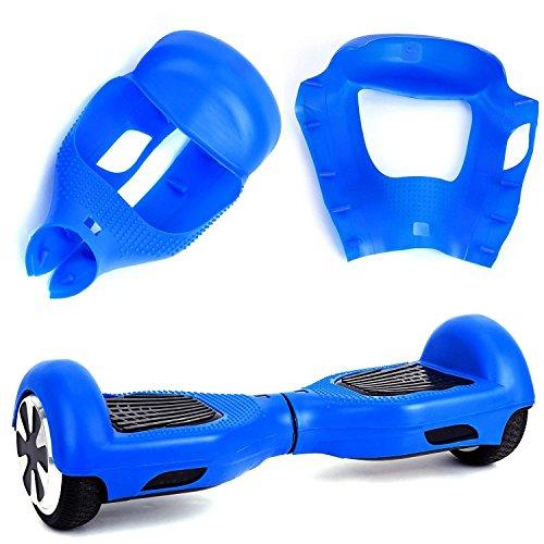 "Willdo Silicone Cove para 6.5""2 Wheels Balance Scooter - Balance Hover Board Protector Funda Cubierta (Azul)"