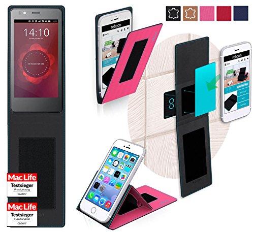 reboon Hülle für BQ Aquaris E4.5 Ubuntu Edition Tasche Cover Case Bumper   Pink   Testsieger