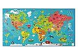 Scratch 6181076Puzzle XXL mapamundi, 150Piezas