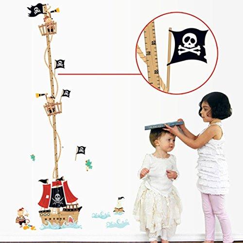 Vinilo infantil con diseño de piratas.
