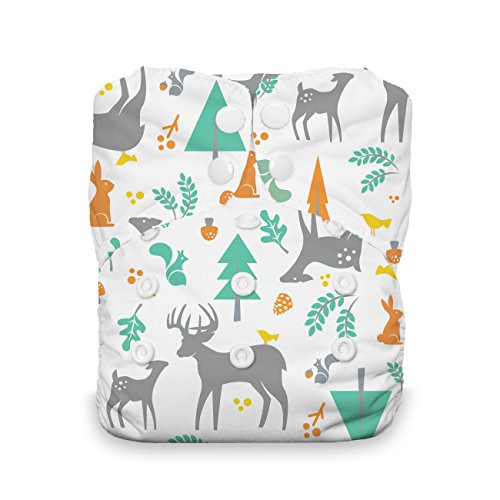 Product Image of the Thirsties Natural One Size All in One Cloth Diaper, Snap Closure, Woodland