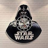 La Bella Casa Star Wars Darth Vader - Reloj de pared con disco de vinilo para pared, diseño de Darth Vader