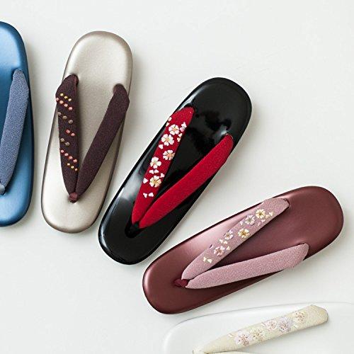 [たゆたふ]草履刺繍鼻緒R芯草履着物用レディース日本製全11色(M,クリーム)