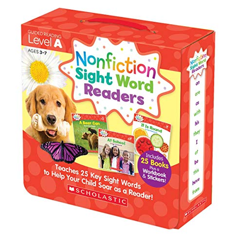 Nonfiction Sight Word Readers Level A, Ages 3-7: Teaches 25 Key Sight Words to Help Your Child Soar ...