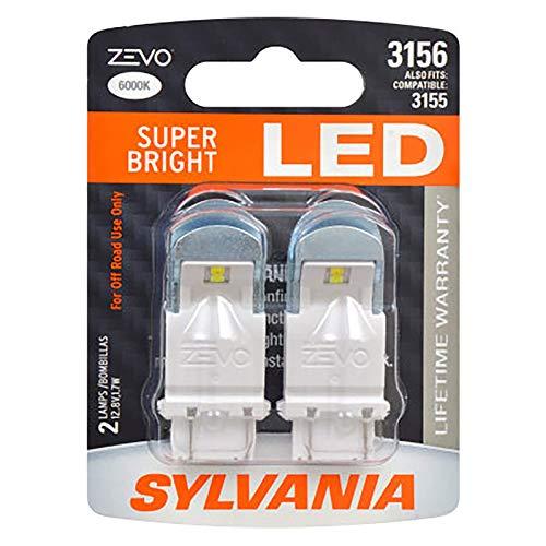 SYLVANIA ZEVO 3156 White LED Bulb, (Contains 2 Bulbs)