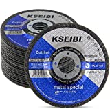 KSEIBI 645104 4-1/2-Inch by 1/8-Inch Metal Cutting and Grinding Disc Depressed Center Cut Off Grind Wheel, 7/8-Inch Arbor, 20-Pack