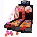 FANGX Juego de Baloncesto para Mesa,Minibasket Juego de Tiro Juegos de Mesa de TiroInteractivo Regalos de Cumpleaños