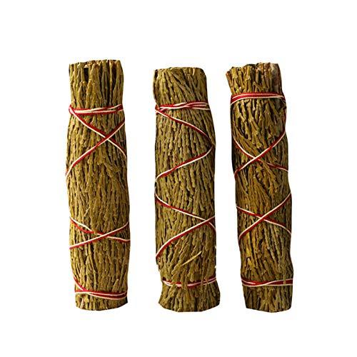 3pcs Cedar Bundle ceremonias de meditación incienso, 4.7 pulgadas