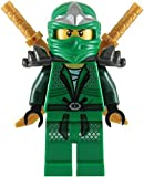 Lego Ninjago – minifigura Lloyd ZX (ninja verde), con dos espadas doradas