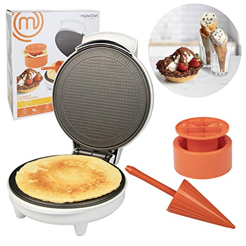 MasterChef Waffle Cone and Bowl Maker- Includes Shaper Roller and Bowl Press- Homemade Ice Cream Cone Baking Iron Machine, Fun Kitchen Appliance for Summer Parties  Louisiana