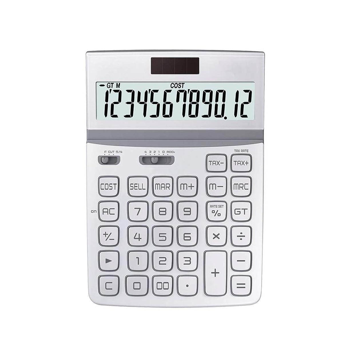 屋内で爆発するディンカルビル事務所 大画面12ビットデジタルHDディスプレイ保護アイソーラーボタンバッテリー二重保険金融電卓 算数 (PATTERN : B)
