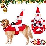 Traje de Perro Santa,Disfraz De Navidad para Mascotas,Navidad Ropa para...