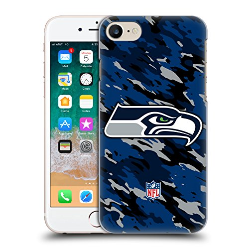 Head Case Designs Offizielle NFL Camou Seattle Seahawks Logo Harte Rueckseiten Handyhülle Hülle Huelle kompatibel mit Apple iPhone 7 / iPhone 8 / iPhone SE 2020