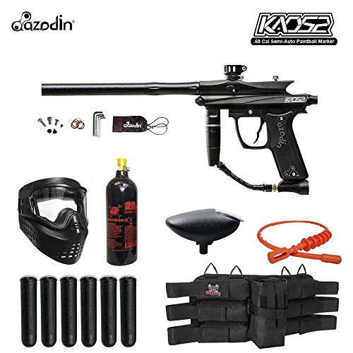 Maddog Azodin KAOS 2 Titanium Paintball Gun Package - Blue/Black