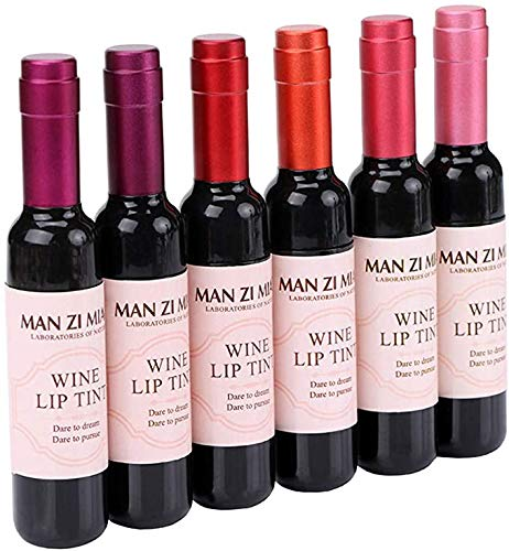 ZGBQ 6-Farben-Geschenkbox mit Lipgloss, Lippenbalsam, wasserdicht und feuchtigkeitsspendend, Nicht...