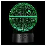 Lámpara 3D de Star Wars, luz Nocturna de Ilusión LED ZNZ, 16 Colores de 3 Modelos con Táctil...