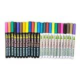 oshhni Plumas de Línea de Contorno Doble de 24 Colores para Tarjetas de Felicitación de Dibujo Artístico