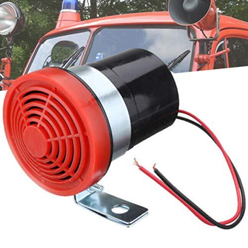 Formulaioue 12V Air Horn Car Truck Veh/ículo Invertir Sonido Altavoz Zumbador Alarma Horn Siren Warn Beeper Se Adapta a Varios veh/ículos-Negro