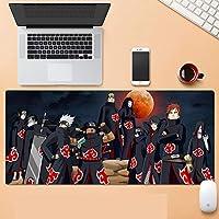 NARUTO マウスパッド 大型ゲームアニメマウスパッド 防水 滑り止めマウスマット エッジステッチ付き PC ノートパソコン-A_700x300x3mm