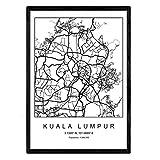 Nacnic Drucken Stadtplan Kuala Lumpur skandinavischen Stil